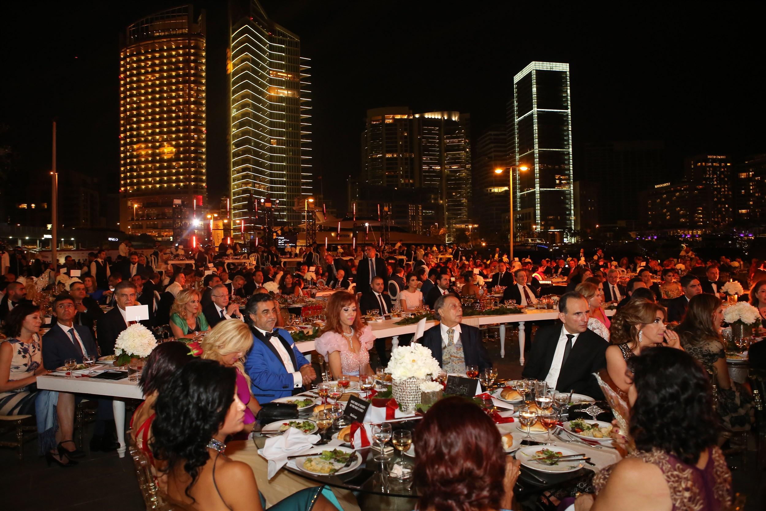 a warm view of the setup in beirut international award festival (biaf)