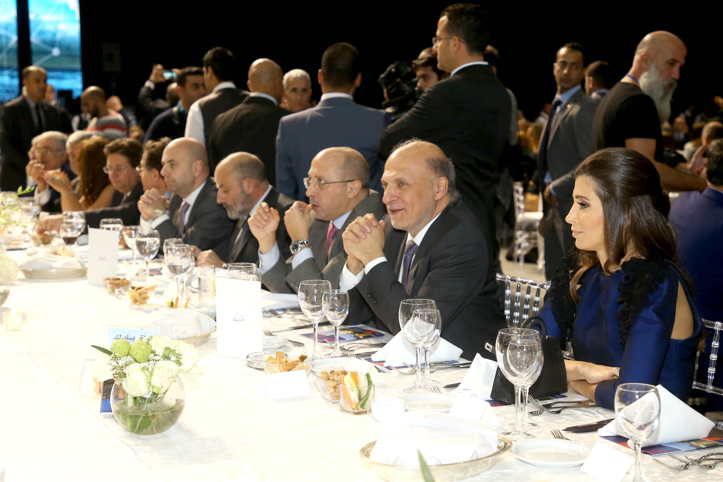 iaaf president with the guests of honor at lne lebanese national energy