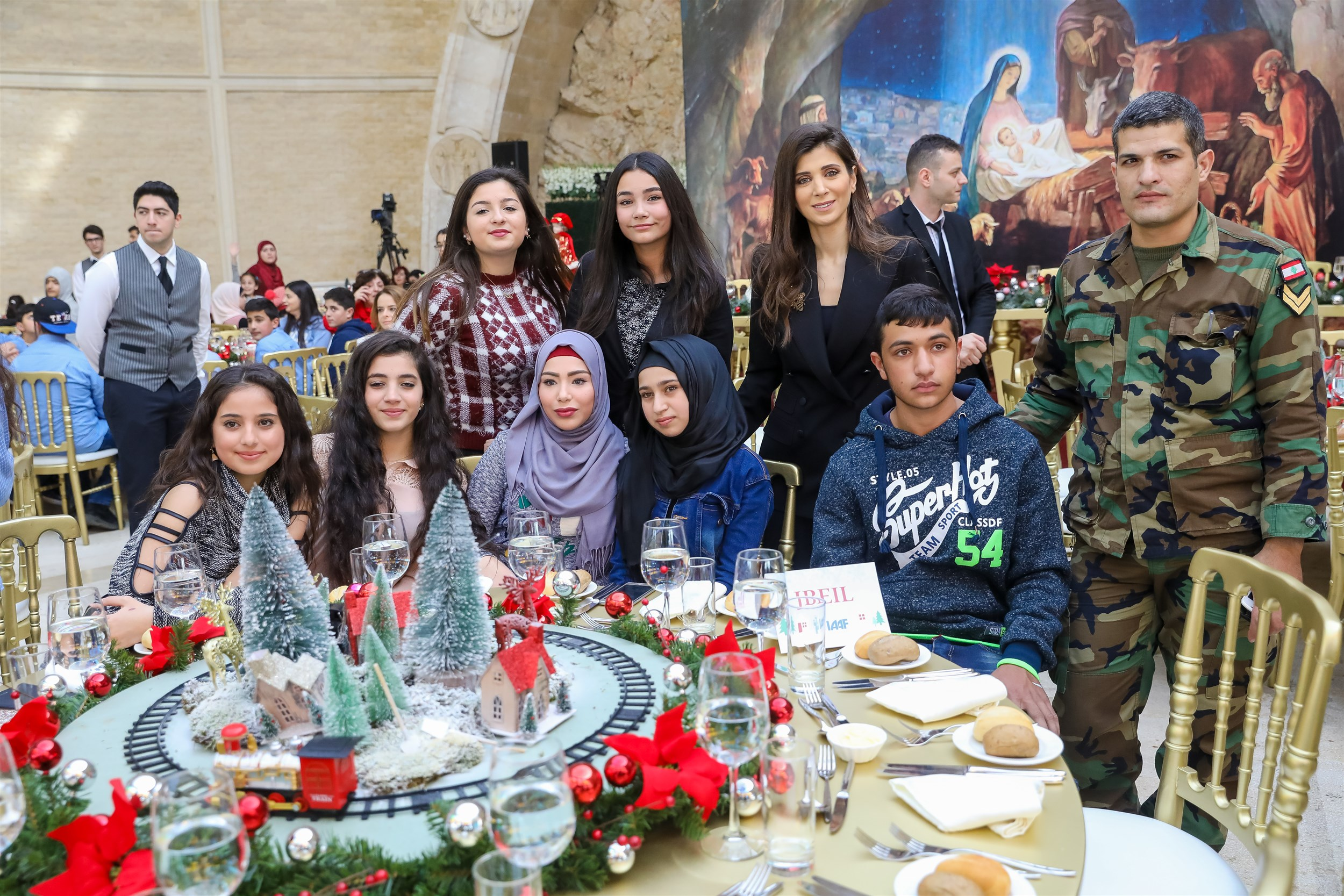 lebanese army martyrs' children attending the christmas lunch in bkerki organized by iaaf