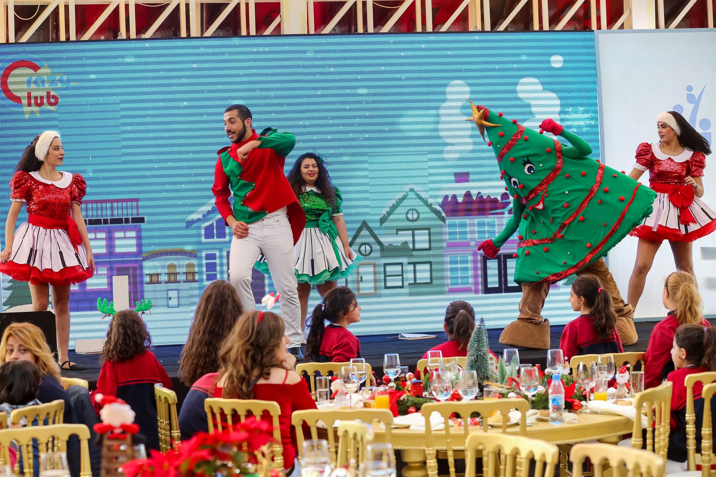 the children enjoy the fun filled festive show.