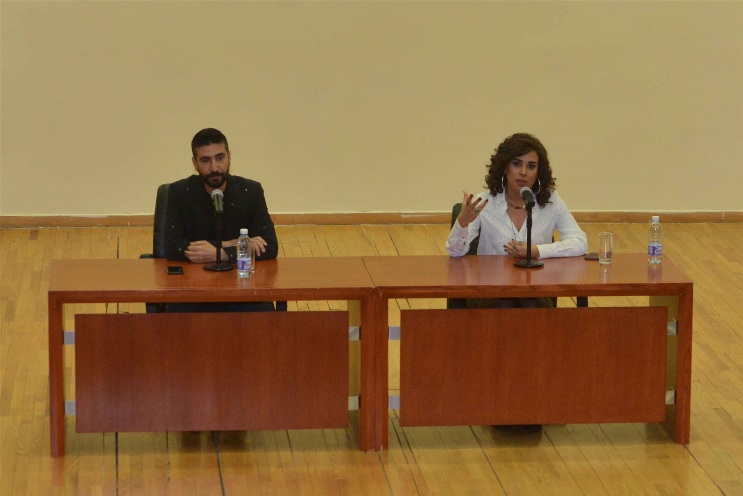 celebrity guest speakers actor/comedian wissam sabbagh and actress andree nacouzi share their own stories of the road to success, and daring to dream.