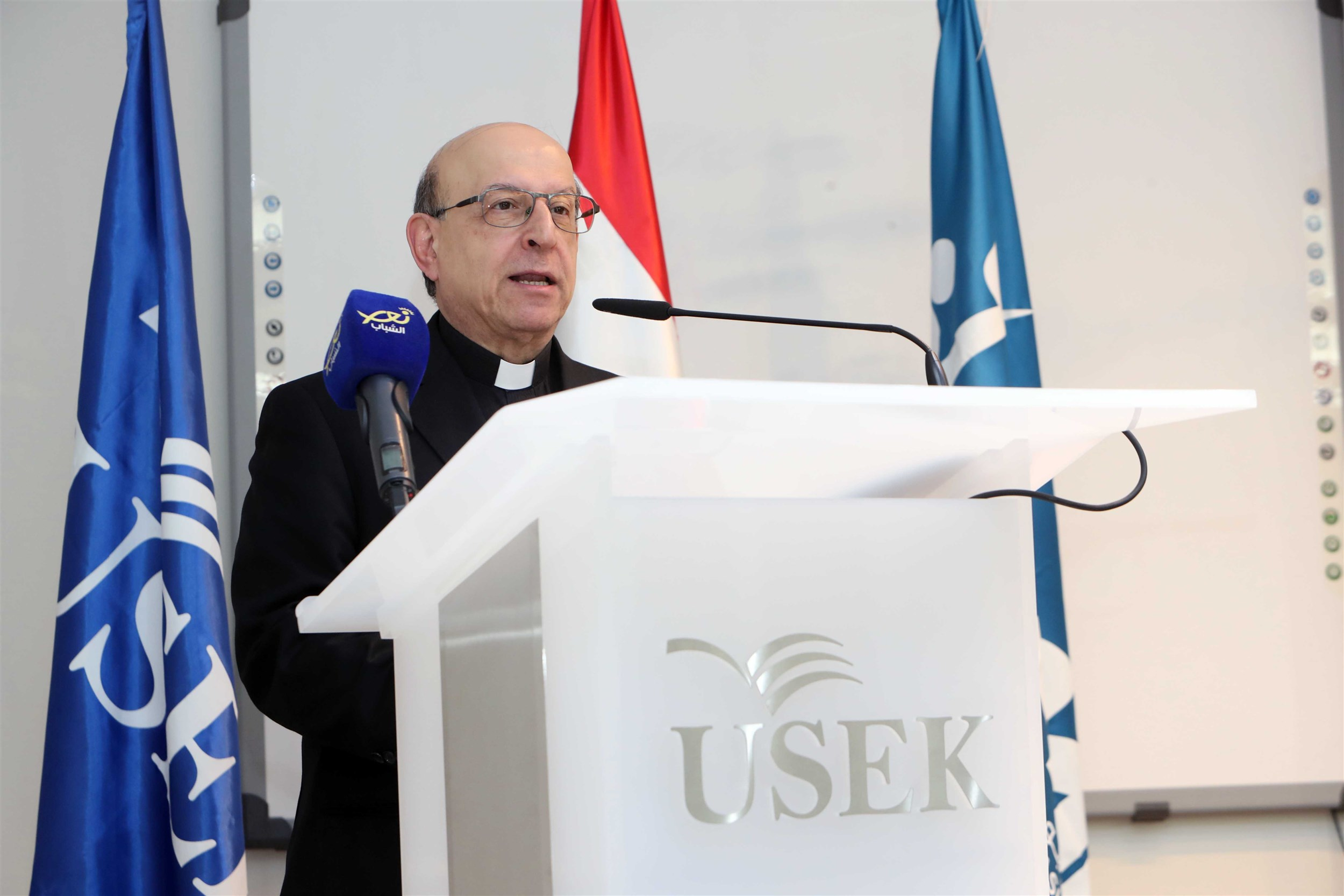 president of holy spitiy univesity of kaslik father professor georges hobeika shares his support to his students and the iaaf awards competition that challenges and inspires them to aim higher and give more.