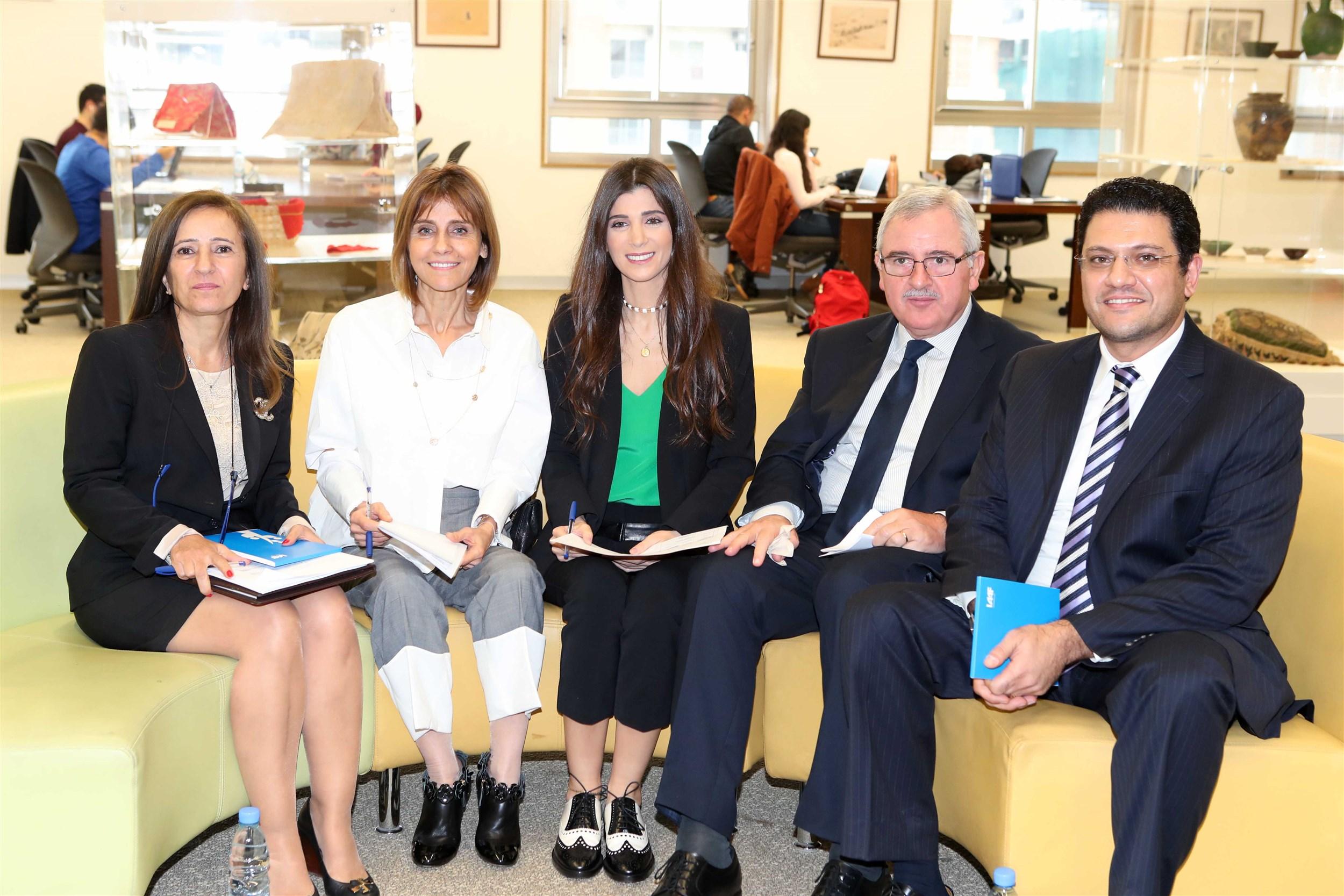 the members of the esteemed jury dr. silivia kerkolian, mrs. randa daher, mrs. inas al jarmakani, minister jean oghassapian and dr. amin abi aad.