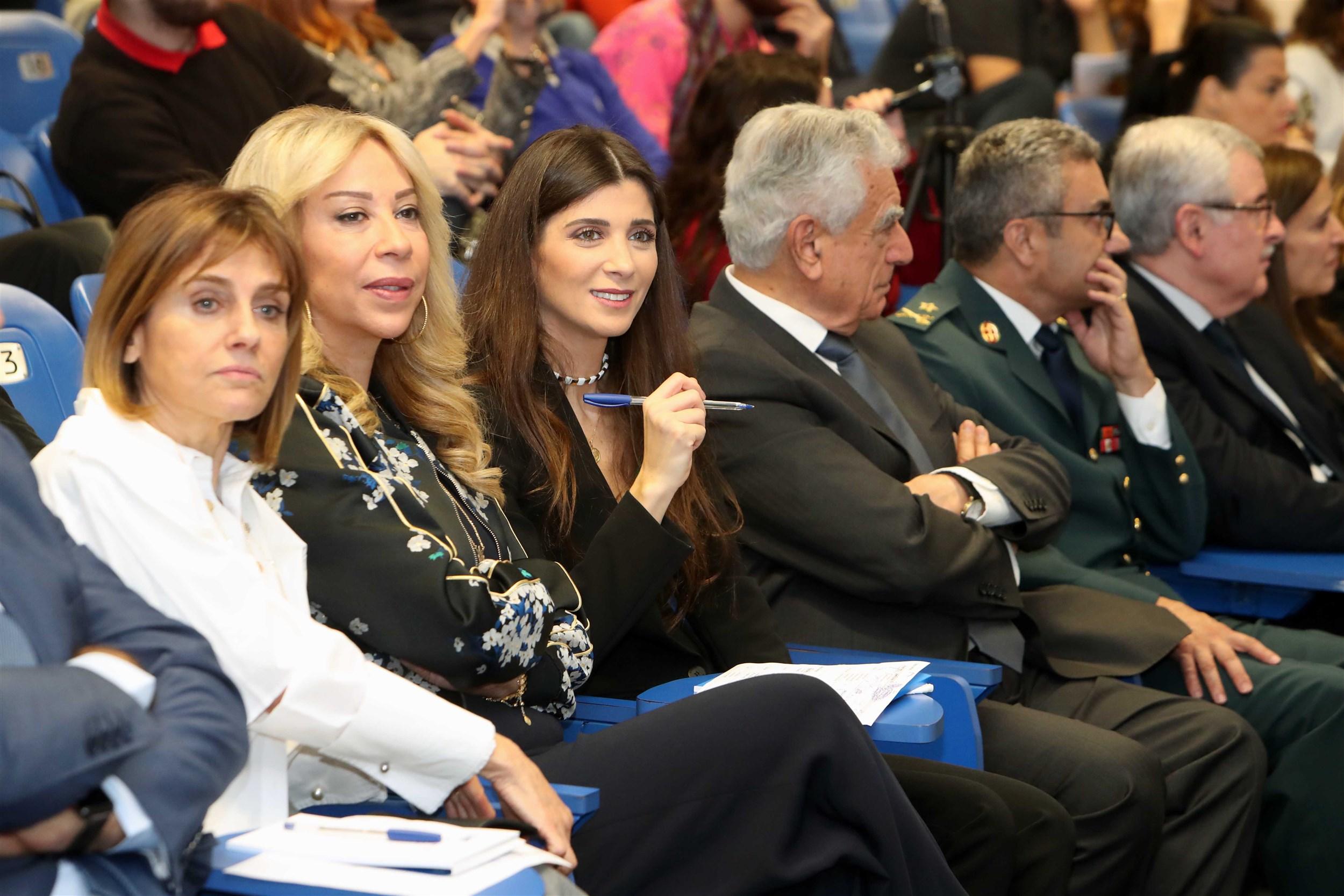 mrs. randa daher, mrs. nehmet joseph aoun, mrs. inas jarmakani, dr. joseph jabbra and general georges melhem representing laf commander general joseph aoun.