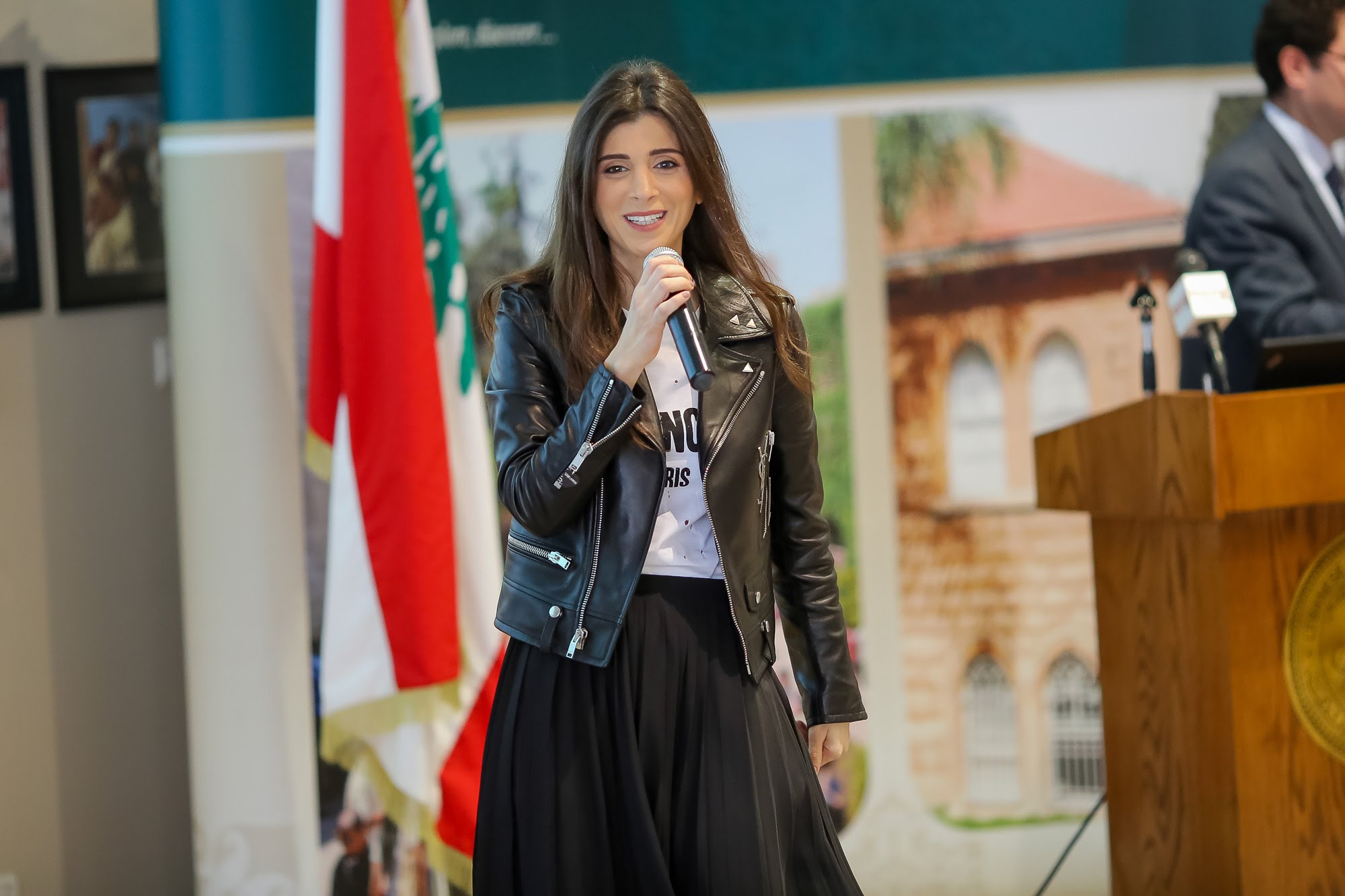 mrs. inas al jarmakani in the lebanese american university at the byblos campus