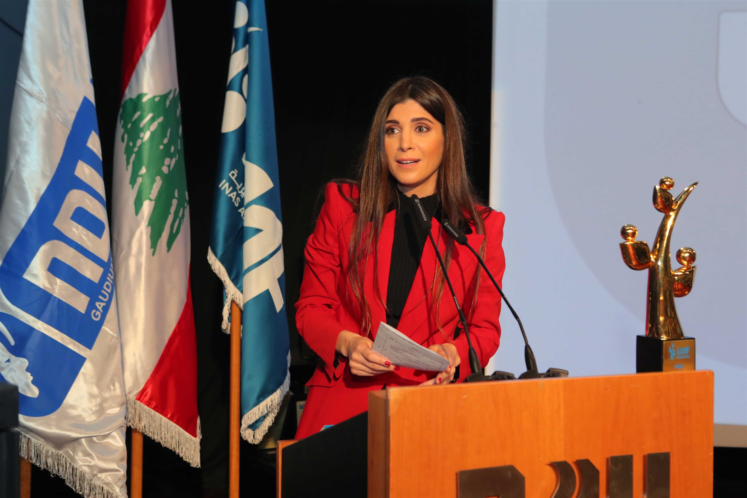 """founder and president of the iaaf mrs. inas al jarmakani states """"there are two paths: the easy one of stability and the daring one that could end up with accomplishing dreams"""". the iaaf is to guide students towards achieving their dreams""""."""