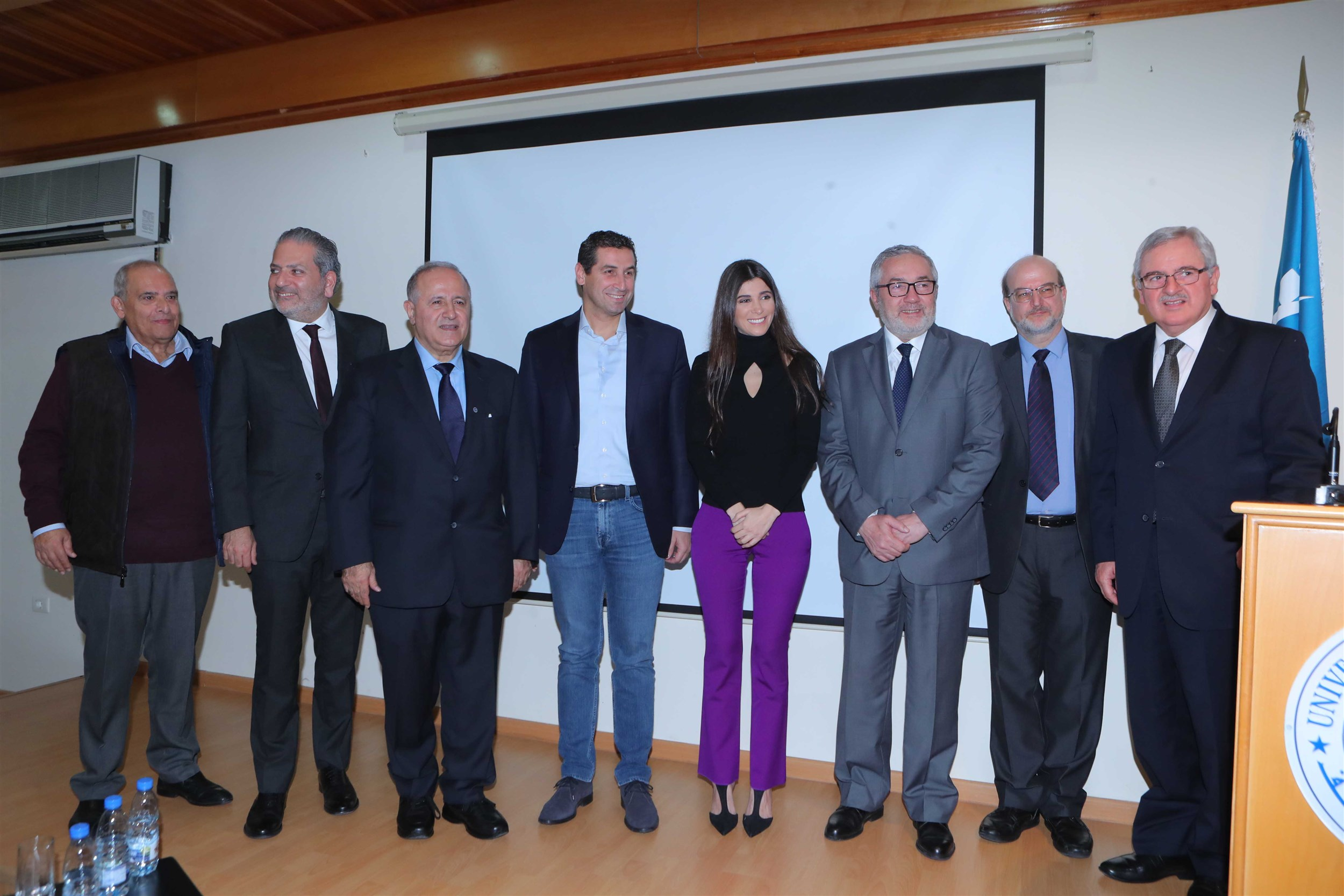 members of the jury and honorable attendees with mrs. inas al jarmakani.