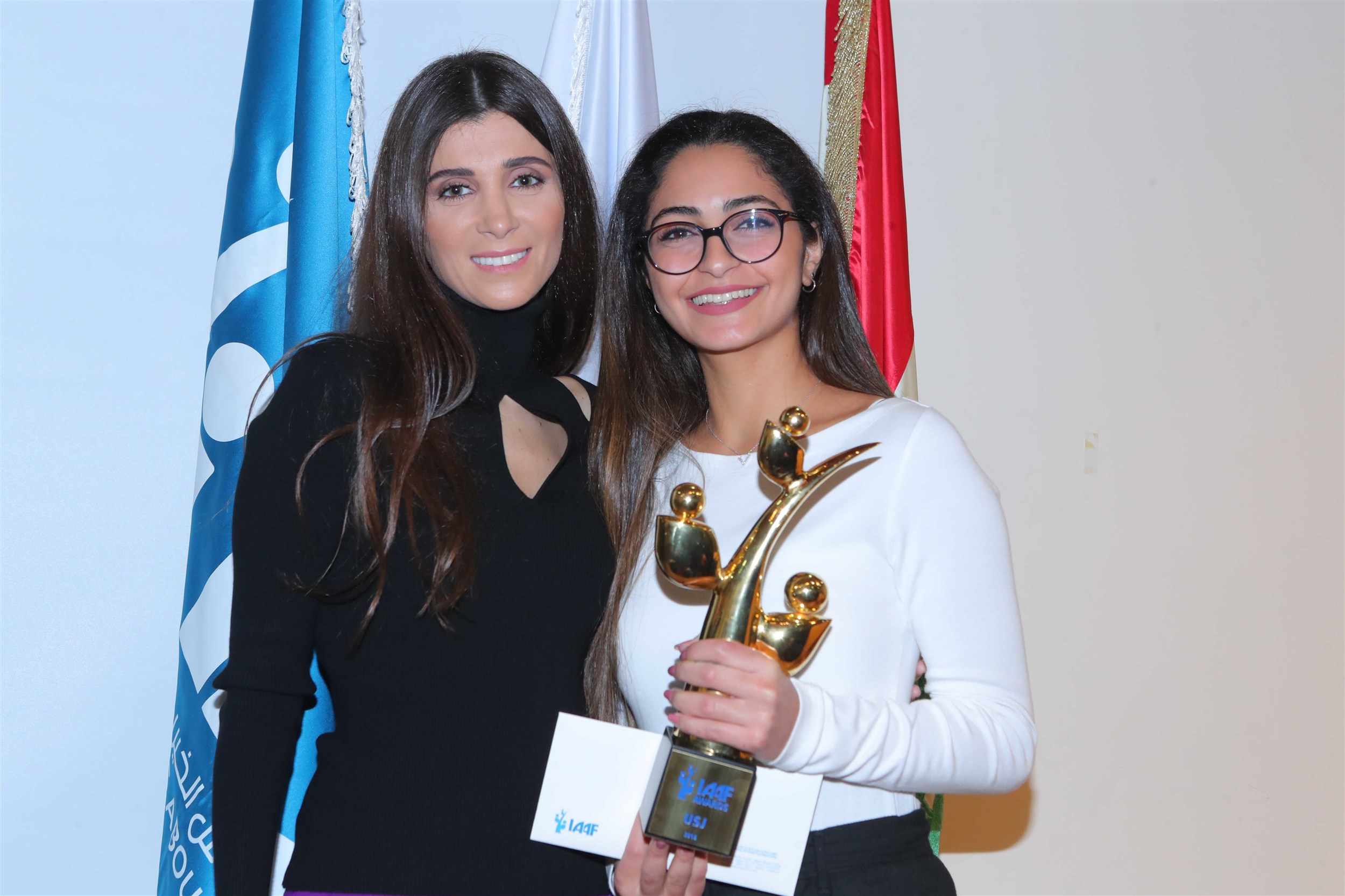 """the winning student pamela kanaan of the $10,000 monetary prize for her project """"wander""""."""